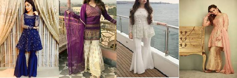 e39a82bfb7 Pakistani latest Fashion Gharara and Sharara 2019 | Pakistan 360°