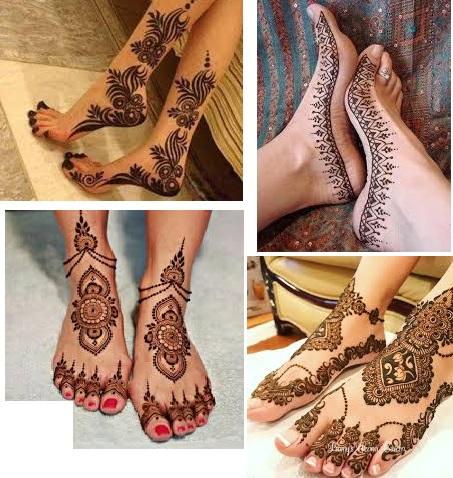 pakistani foot mehndi designs