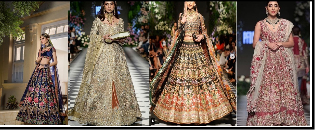 heavy embroidry lehnga designs