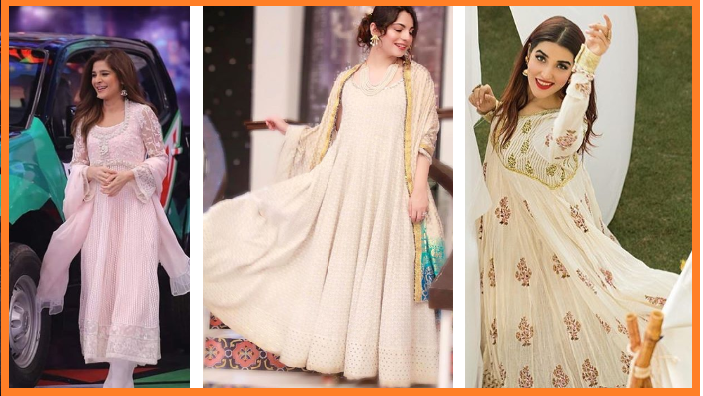 pakistani celebrities wearing white