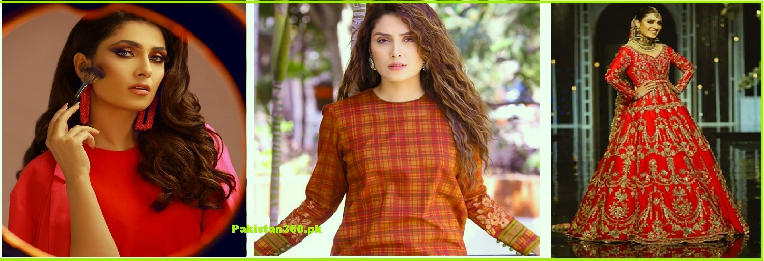 ayeza khan in red