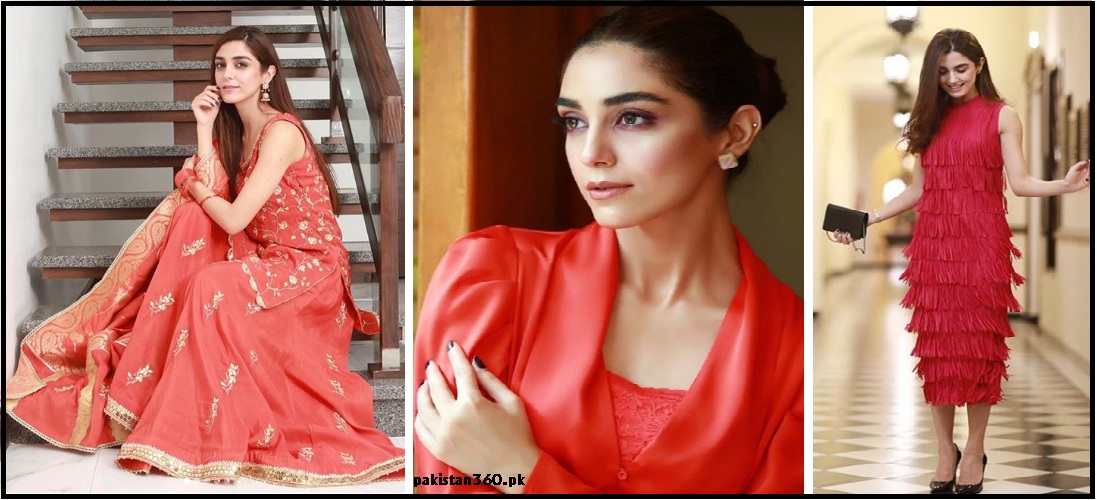 maya ali wearing red colour