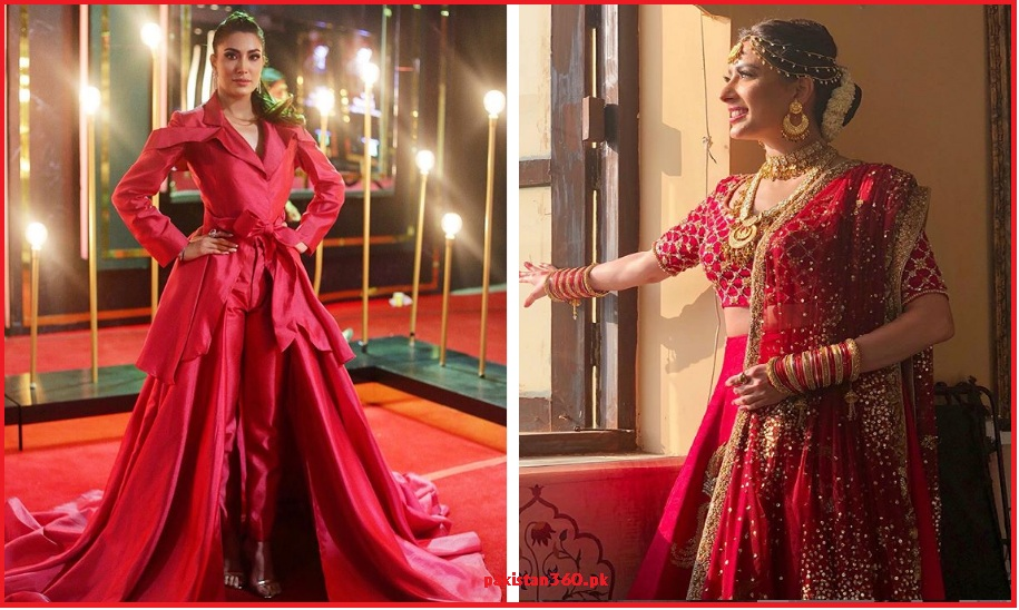 Mehwish Hayat in Red