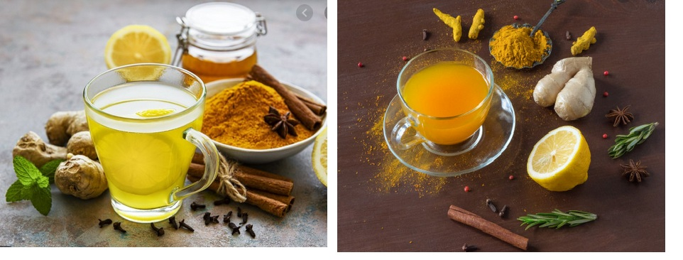 green tea and corona